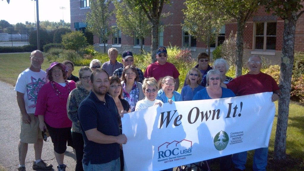 Resident Owners at Brunswick Bay, a Resident Owned Community in Maine that CDI helped convert.