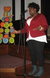 Rafiah Vitalis presenting about Diaspora Destinations