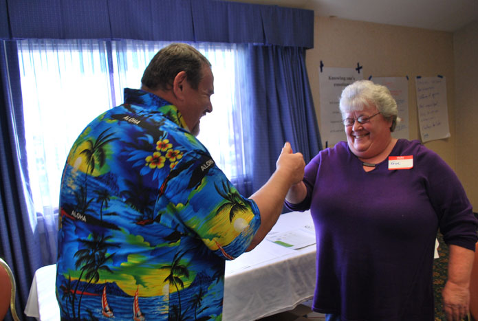 Participants in our resident owned communities events get to network with and better understand one another—sometimes through thumb wrestling.