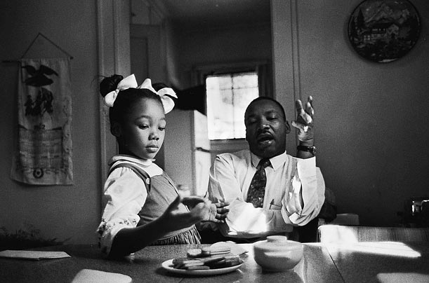 Martin Luther King, Jr. with a child
