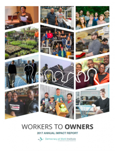 Cover of the Workers to Owners annual impact report