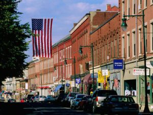 The main street in Rockland, Maine